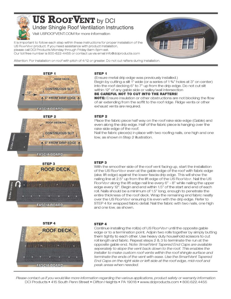 Link to the US RoofVent directions pdf